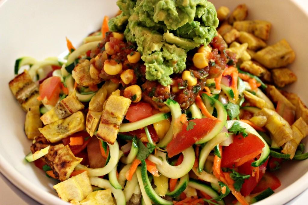 Tropical plantain Salad